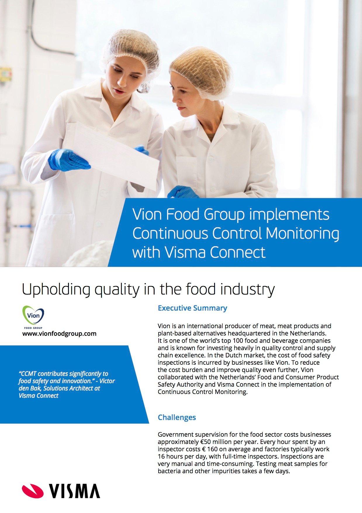 Vion Foods implements CCMT - case study